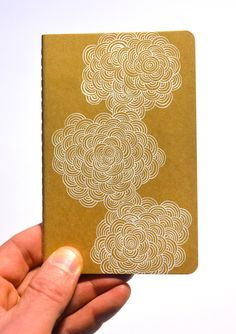 Hand drawn pattern on Moleskine Cahier by AbsentMind on Etsy