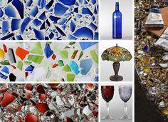 Bricolaje con vidrio molido. Existen maneras sumamente productivas de reutilizar los vidrios moliéndolos con fines artísticos y decorativos. Entre murales y adornos, su utilidad es variada.