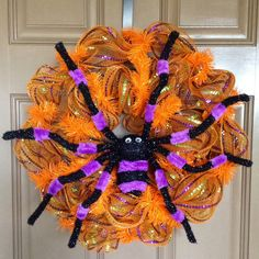 Whimsical Halloween Mesh Wreath