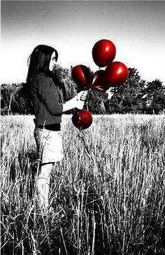 black and white color splash happy tuesday pics Splash Photography, Black And White Photography, Photography Ideas, Balloons Photography, Black And White Colour, Red And Grey, Red Black, Gray, Red Colour Palette