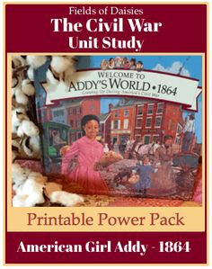 Civil War American Girl Addy Printable Power Pack War Recipe, History For Kids, Hands On Activities, Fun Learning, Civilization, American Girl, The Book, Study, Printables