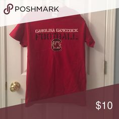 USC Gamecock Football Tee Red USC Gamecock Football Tee Gildan Tops Tees - Short Sleeve