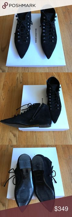 Balenciaga Suede Booties Worn less than 5 times. I love them, but they are too small for me.  Balenciaga Shoes Ankle Boots & Booties