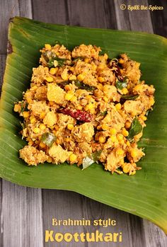 Koottu curry or koottukari is a traditional Kerala curry and an important dish in a sadya(feast). Koottu means combination and as the n. Indian Vegetarian Dishes, Indian Dishes, Indian Food Recipes, Vegetarian Recipes, Cooking Recipes, Kerala Recipes, East Indian Food, Veg Curry, Curry Recipes