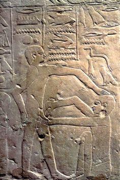 Egyptians practicing circumcision