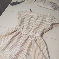 Anna McClurg Clothing: Striped seaside dress