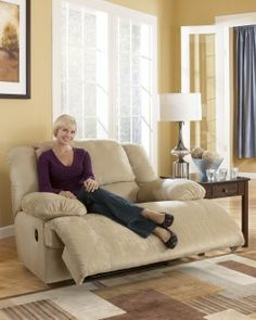 hogan khaki wall recliner with wide seat by signature design see more at http