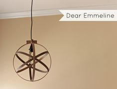 Dear Emmeline: DIY Easy Embroidery Hoop Pendant Spray diff colors, hang without light Diy Luminaire, Diy Lampe, Luminaire Design, Diy Light Fixtures, Bedroom Light Fixtures, Orb Pendant Light, Pendant Lighting, Orb Light, Diy Easy Embroidery