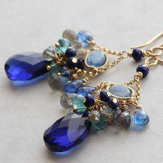 SALE  HALF PRICE  Blue Velvet... blue gemstone by NicolaKimberlin