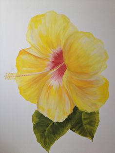Tropical Art Island Hibiscus by IslandArtCollection on Etsy, $299.99
