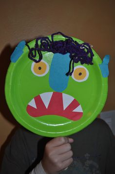 """Create this mask step by step after reading, """"Go Away Big Scary Monster."""" ~ By, Michelle Bottenberg Monster Activities, Fall Preschool Activities, Preschool Arts And Crafts, Halloween Activities For Kids, Halloween Kids, Book Activities, School Themes, School Fun, Monster Party"""