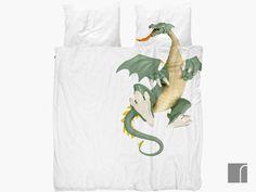 Snurk Dragon Bedding Set | Double Dragon Duvet Cover | reroom.co.uk Single Bedding Sets, Double Bedding Sets, Double Duvet Set, Double Duvet Covers, Duvet Cover Sets, Kids Bed Linen, Fashion Room, Kid Beds, Dragons