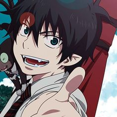 Ao no Exorcist Ao No Exorcist, Blue Exorcist Anime, Old Anime, Anime Guys, Anime Art, Rin Okumura, Anime Black Hair, Anime Meme Face, Manhwa