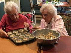 It is always fun to bake with a friend! Birches, Friend Friendship, Assisted Living, Baking, Fun, Gourmet, Patisserie, Backen, Bread