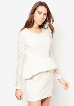 BREAD N BUTTER Lace Peplum Dress 喱士腰飾連身裙 Lace Peplum Dress, Butter, Bread, Dresses, Fashion, Vestidos, Moda, Fashion Styles, Breads
