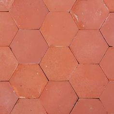 Tomettes mécaniques hexagonales rouges