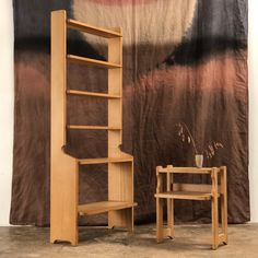 Set of 2 vintage oak shelves by Guillerme and Chambron Votre maison edition Massive oak h W D Oak Shelves, Bookcase Storage, French Antiques, Modern Design, Mid Century, Furniture, Vintage, Home Decor, Home