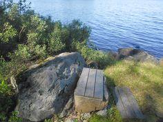Thinking bench, lake Puula, Kangasniemi, Finland.