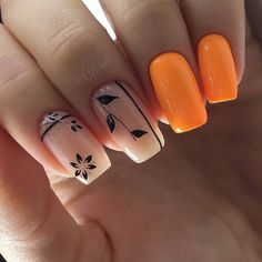 intricate short acrylic nails to express yourself 1 Nail Art Designs, Manicure Nail Designs, Manicure E Pedicure, Ongles Beiges, Jolie Nail Art, Nagellack Trends, Pretty Nail Art, Hot Nails, Orange Nails