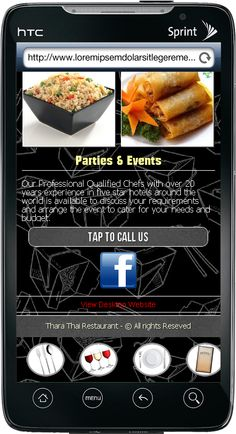 One of Our Great Mobile Website Design For a Thai Food Restaurant with a 50% Off just by mentioning you saw it on pinterest