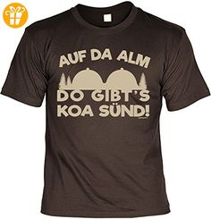 Wander T-Shirt Auf da Alm do gibt´s koa Sünd Kletter Bergsteiger Shirt