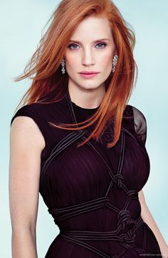 Jessica Chastain  - 2018 Red hair & alternative hair style.