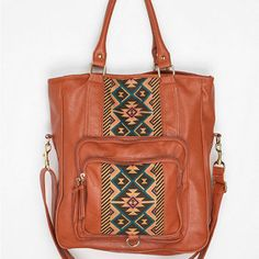 Ecote Pattern-Block Tote Bag