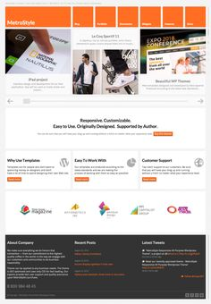 MetroStyle Responsive All Purpose Wordpress Theme on the Behance Network
