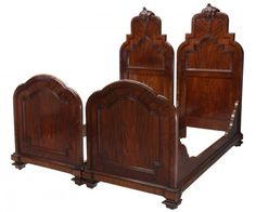 ~ Two Italian Carved Mahogany Single Beds, 19th c. ~ new.liveauctioneers.com