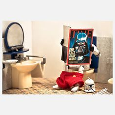 Recession Times 10x8 - Stormtrooper and Darth Vader - Is it just us, or are criminals getting more goofy-looking these days? This charming, whimsical print is part of Marcos Minuchin's The Secret Life of Toys collection, which imagines what goes on outside the toy box. $18