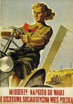 jpeg - Wikipedia, the free encyclopedia Communist Propaganda, Propaganda Art, Poland People, Fallout Art, Polish Posters, Motorcycle Posters, Political Art, Vintage Graphic Design, Feminist Art