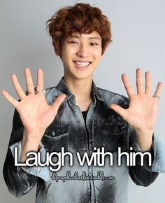 kpop bucket list. Laugh with Chanyeol.