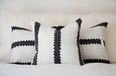 Editors Pick | Zig Zag Mudcloth Pillow Cover | Various Sizes  This pillow was…