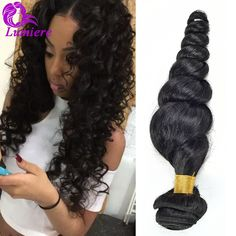 8A Peruvian Virgin Hair Loose Wave 3Bundles Loose Curly Weave Human Hair Bundles Unporcessed Peruvian Loose Wave Virgin Hair ** Details on product can be viewed by clicking the image