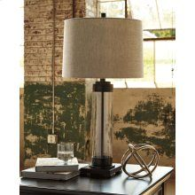 Talar - Clear/Bronze Finish - Glass Table Lamp by Signature Design by Ashley. Get your Talar - Clear/Bronze Finish - Glass Table Lamp at JB's Furniture, Milwaukee WI furniture store. Ashley Furniture Industries, Living Room End Tables, Living Area, Table Lamp Sets, At Home Store, Modern Industrial, Glass Table, Floor Lamp, Home Decor