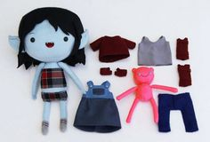 Adventure Time Plush Dress Up Dolls - Marceline