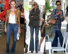 celebrities pantalon campana