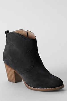 Women's Harris Suede Ankle Boots from Lands' End #ankleboots