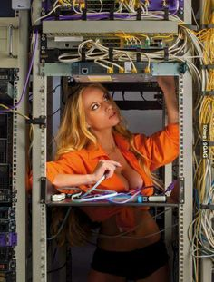 Lady networking administrator