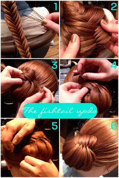 HOW TO: braid-to-updo. So different and so pretty!!! Makes me want my long hair back. Love her red color, too. :-)