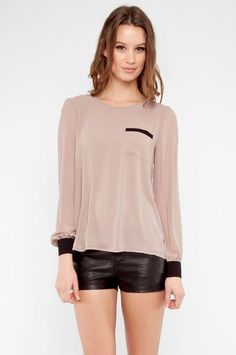 like how it drapes the body - Chiffon  Blouse - like the contrast combination