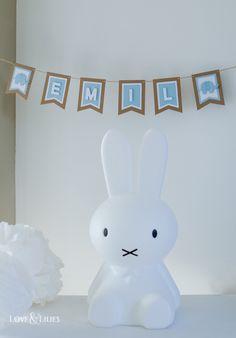 Babyshower Ideen: Miffy und Girlande / Wimpelkette für die Babyparty des kleinen Emil - Love & Lilies