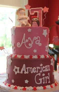American Girl Doll Julie Birthday Cake