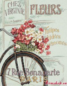 Dimensions Shop. Набор для вышивания Dimensions 35195 Parisian Bicycle (Парижский велосипед)
