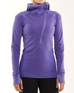 Lululemon Run For It Pullover in Persian Purple --- warm and snuggly