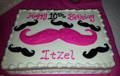 mustache party for girls | Girl Mustache birthday cake
