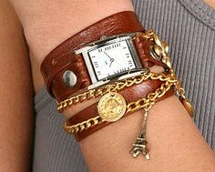 Another fantastic buy is the French bracelet watch. It's an eye-catching piece that dresses up a casual outfit nicely without being overly bold.