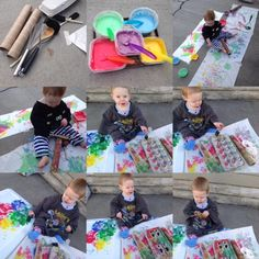 Let your toddler go crazy with paint, then cut out into egg shapes for a great, colorful homemade card or banner! For more great ideas, check out the Bitty-Bits Blog for fun, handcrafted ways to love your kids to bitty-bits!
