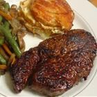 BBQ NY Strip Steak - I am so hungry right now!