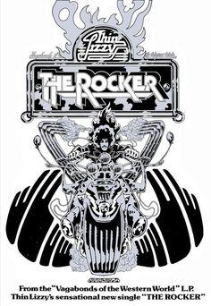 "THIN LIZZY - 1973 ""THE ROCKER"" UK Decca Promo Poster by JIM FITZPATRICK."